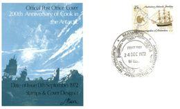 (E 24) Australia Antarctic Territory (2 Covers) - 1972 - Mawson Postmarks - FDC