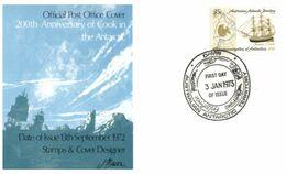 (E 24) Australia Antarctic Territory (2 Covers) - 1972 - Macquarie Postmarks - FDC