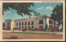 C. Postale - Mobile Public Library - Circa 1950 - Non Circulee - A1RR2 - Mobile
