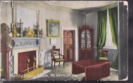 C. Postale - Mount Vernon - The Family Dining Room - Circa 1920 - Non Circulee - A1RR2 - Etats-Unis