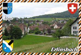 Postcard, REPRODUCTION, Switzerland, Canton Aargau, Erlinsbach - Landkaarten