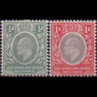 EAST AFRICA 1903 - Scott# 1-2 King EVII 1/2-1a LH - Eastern Africa