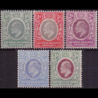 EAST AFRICA 1904 - Scott# 17-21 King EVII 1/2-3a LH - Eastern Africa