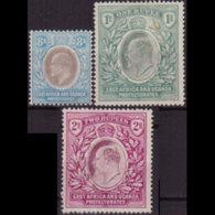 EAST AFRICA 1904 - Scott# 24a-6 King EVII 8a-2r LH - Eastern Africa