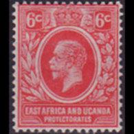 EAST AFRICA 1907 - Scott# 33 King EVII 6c LH - Eastern Africa
