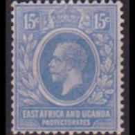 EAST AFRICA 1907 - Scott# 36 King EVII 15c LH Back Thin - Eastern Africa