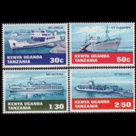 K.U.T. 1969 - Scott# 193-6 Water Transport Set Of 4 LH - Kenya, Uganda & Tanganyika