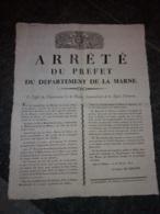 Arrêté Du Préfet Du Département De La Marne - Appel Pour L'organisation Du Génie Châlons 28 Février 1816 - Documenti Storici