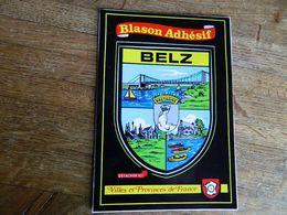 BELZ:TRES BELLE CARTE AVEC LE BLASON  AUTOCOLLANT - Bretagne