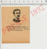 Gravure Presse 1892 Portrait Louis Le Provost De Launay Député Des Côtes-du-Nord Lannion 51P11-1 - Vieux Papiers