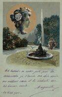 Carte Illustrateur A Identifier Femme Art Nouveau 1901 - Ilustradores & Fotógrafos