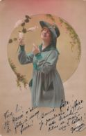 Femme (Fantaisie) - Robe Et Chapeau Vert - Femmes