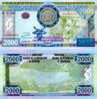 BURUNDI  2,000 Francs   P-471.12.2008  UNC Lot Of 5 Pieces - Burundi
