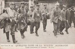 """V26- GUERRE - QUELQUES TYPES DE LA """"KULTUR"""" ALLEMANDE - (MILITARIA - WW1 - CASQUE A POINTE - 2 SCANS) - Guerre 1914-18"""