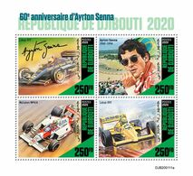 Djibouti. 2020 60th Anniversary Of Ayrton Senna.  (0111a)  OFFICIAL ISSUE - Cars