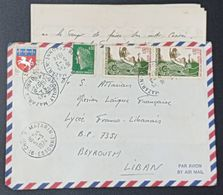 FD2 - Nice 1974 Cover Sent From France To The Lycée Franco Libanais - Mission Laique Francaise, Beirut Lebanon - Líbano