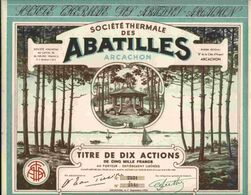 SUPERBE & RARE :  SOCIETE THERMALE DES ABATILLES   ( ARCACHON ) - Unclassified