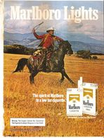 MARLBORO LIGHTS  PUBBLICITA' ORIGINALE PICTURE OF VINTAGE PAPER SIGARETTE - Articoli Pubblicitari