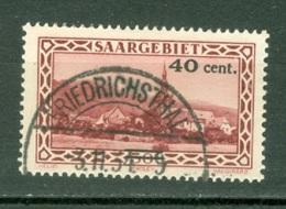 Sarre  Yvert  172  Ob  TB - Usati