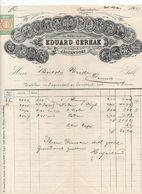 """Jagerndorf (Repubblica Ceca) - Fattura Della Ditta """" Edurad Cerhak """" Datata 21 Maggio 1892 - (FDC23061) - Fatture & Documenti Commerciali"""