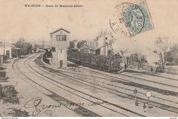 X7- 94) MAISONS  - LA GARE DE MAISONS ALFORT - (ANIMEE - TRAIN VAPEUR) - Maisons Alfort