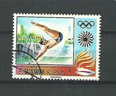 1972 PLONGEON AIR MAIL XX OLYMPIC MUNICH 1972 2 RAS AL KHAIMA OBLITÉRÉ - Tuffi