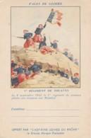 Z6 CARTE FRANCHISE MILITAIRE - PAGES DE GLOIRE - ASPIRINE RHONE - 1° REGIMENT DE ZOUAVES - MALAKOF  - 2 SCANS - Marcophilie (Lettres)