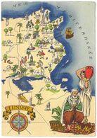 CPSM TUNISIE - Série Carte Géographique BARRE DAYEZ N°1326-A Dépot 1942 - Tunisie