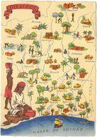 CPSM COTE D'IVOIRE - Série Carte Géographique BARRE DAYEZ N°1326-J Dépot 1942 - Côte-d'Ivoire