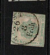 Austria Journal Stamp 1853 2k Green ; A Scarce Stamp - Usati