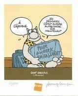 "GELUCK  -  Ex-libris ""Chat érectus"" - Illustrateurs G - I"