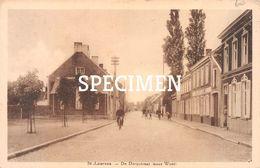 De Dorpstraat (naar West) - Sint-Laureins - Sint-Laureins