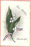 Remalard - Carte Faite à La Main Porte Bonheur 1916 Bouquet Muguet Signée A. Bernard Parfait état - Remalard