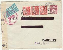 ESC 65 öre OMEC Copenhague -> Paris France Censure Allemande 1944 - Lettere