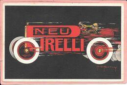 Carte Publicitaire Pneu Pirelli Signée Roowy Stanley Charles Parfait état - Ansichtskarten