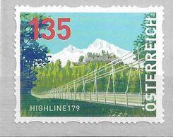2020 Austria Österreich Dispensermarke Mi.35 **MNH  Fußgänger-Seilhängebrücke Highline 179, Reutte - 2011-... Ungebraucht