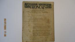 TRONCAIS / Oct;1951 / BULLETIN AMICALE ANCIENS DU GROUPEMENT DE JEUNESSE N°1 / LA CORDEE N° SPECIAL / - Politique