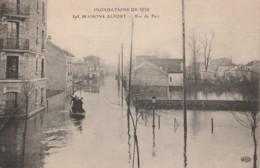 K4- 94) MAISONS ALFORT - INONDATIONS DE 1910  - RUE DU PARC  - (2 SCANS) - Maisons Alfort