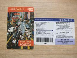 One.Tel Prepaid Phonecard, View Of HongKong Street,used - Hongkong