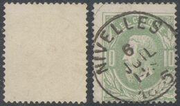 "émission 1869 - N°30 Obl Simple Cercle (DU) ""Nivelles"" - 1869-1883 Leopoldo II"