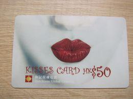 Hutchison Global Crossing Prepaid Phonecard,Kisses Card,used - Hongkong