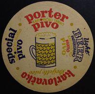 KARLOVACKA BREWERY Croatia Ex - Yugoslavia Very Rare Old Beer Coaster KARLOVACKO PIVO - Beer Mats