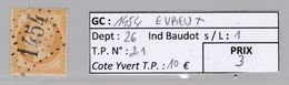 GC 1454 Evreux ( Dept 26 ) S / N° 21 - 1849-1876: Periodo Classico