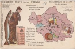 10) AUBE -  EMULSION SCOTT - CONTOUR DEPARTEMENT - NOGENT SUR SEINE , BAR SUR AUBE - (2 SCANS) - Nogent-sur-Seine