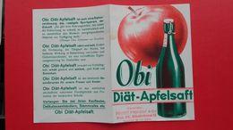 Obi Diat-Apfelsaft.Rudolf Herzer&Co.Wien XIX - Matasellos Generales
