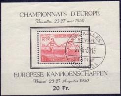 Belgie 1950 Blok Atletiek Kampioen Schap GB-USED - Usados