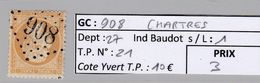 GC 908 Chartres ( Dept 27 ) S / N° 21 - 1849-1876: Classic Period