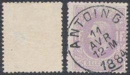 "émission 1869 - N°36 Obl Simple Cercle ""Antoing"" (1884). Superbe - 1869-1883 Léopold II"