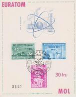 Belgien 1061: Nuklearanlage In Mol/Belgien, EURATOM, CEPT-Mitläufer, Ersttagskarte - Atome