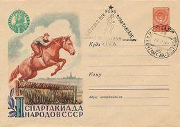RUSSIA - EQUITAZIONE - SALTO OSTACOLI  -  SPARTAKIADE 1959  RIGA - Paardensport